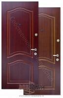 Металлические шпонированные двери МДФ + МДФ