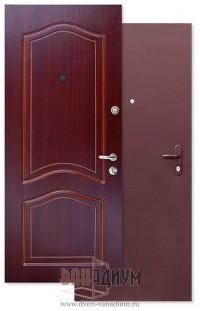 Металлические шпонированные двери Порошковый покрас + МДФ