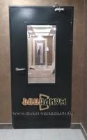 Дверь техническая со стеклопакетом Т16