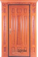 Дверь массив дуба с элементами резьбы МД5