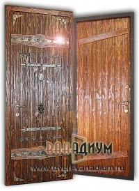 Металлическая дверь с вагонкой ДВ24.