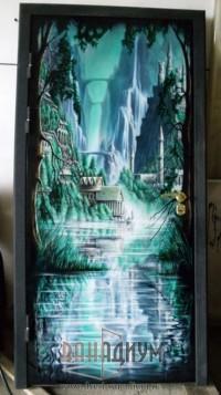 Двери с аэрографией ДА11