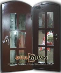 Дверь арочная со стеклом ДС7