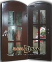 Дверь арочная со стеклом. 05