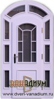 Дверь арочная со стеклопакетами 08.