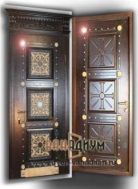 Элитная дверь с мдф и ковкой 08.