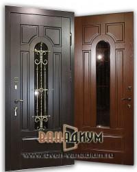 Дверь со стеклом и ковкой СК2