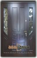 Металлическая дверь мдф багет и ковкой 41.