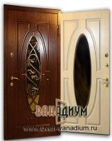 Дверь со стеклом и ковкой СК3