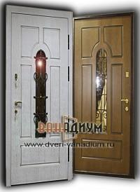 Металлическая дверь МДФ+МДФ (с ковкой) 21