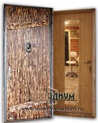 Стальная дверь вагонка + мдф зеркало