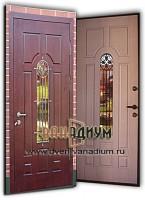 Дверь со стеклом и ковкой СК5