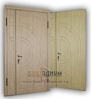 Двустворчатая дверь МДФ+МДФ 09.