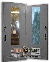 Дверь Т6 с окном и вентиляцией