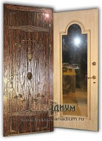 Входная дверь с зеркалом ДЗ16.