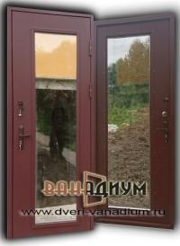 Дверь со стеклопакетом эконом.