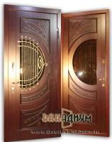 Дверь со стеклом и ковкой СК1