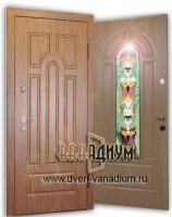 Дверь МДФ15 с витражным стеклом