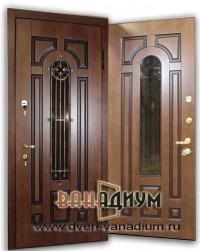 Дверь со стеклом и ковкой СК9