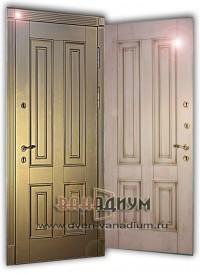 Дверь МДФ+МДФ 28.с багетом.