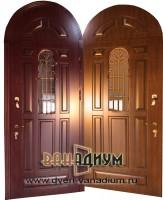 Дверь арочная со стеклом СК13