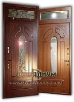 Дверь со стеклом и ковкой СК4