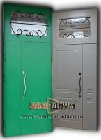 Дверь тамбурная c ковкой и стеклопакетам дт 18.