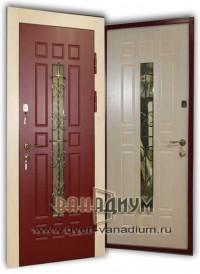 Дверь со стеклом и ковкой СК11