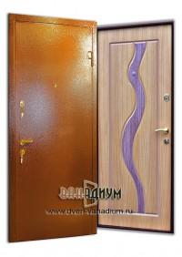 Дверь с порошковым напылением + цветной МДФ ДП6
