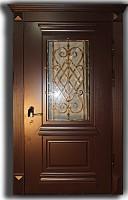Металлическая дверь с мдф багет и ковкой 42.