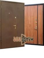 Дверь входная порошок + ламинат (двустворчатая) ДЛ3