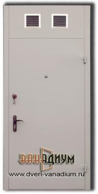 Дверь техническая с вент.решетками Т13.