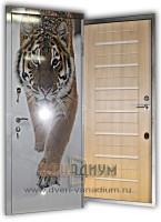 Металлическая дверь ПВХ+МДФ 30.