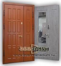 Дверь с зеркалом двустворчатая ДЗ17.