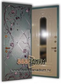 Дверь с зеркалом ДЗ 14