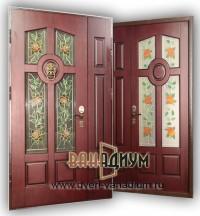 Элитная дверь с витражным стеклом 01.