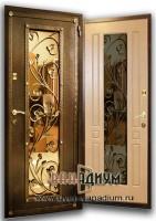 Дверь со стеклом и ковкой СК8
