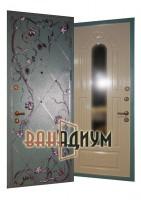 дверь с ковкой виноград+зеркало