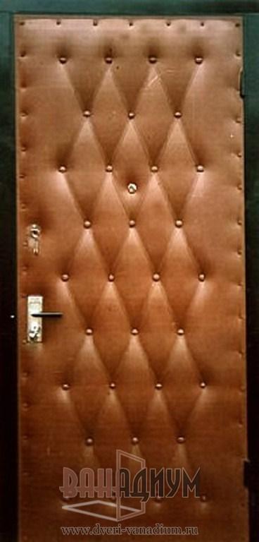 Перетяжка входных дверей дермантином